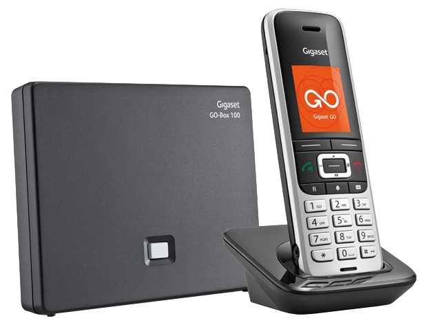 VoIP-телефон Gigaset S850A GOSIP-телефоны<br>Телефон IP Gigaset S850A GO – качественное и многофункциональное устройство для связи. Серебристый корпус придает аппарату стильный вид – такая модель будет красиво смотреться в любом офисе или доме. Телефон IP Gigaset S850A GO снабжен множеством полезных функций, делающих ваше общение более комфортным. Благодаря громкой связи вам не обязательно держать аппарат в руках во время разговора. Аккумулятор трубки рассчитан на 300 часов режима ожидания без станции. Таким образом, пользователю не нужно постоянно думать о подзарядке устройства. При необходимости...<br><br>Поддержка DECT: есть<br>Поддержка GAP: есть<br>Поддержка SIP: есть<br>Подключение гарнитуры: есть<br>Интерфейсы: USB, LAN<br>Встроенная телефонная книг: есть, 500 контактов<br>Конференц-связь: есть