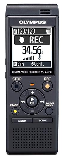 Диктофон Olympus VN-741PCДиктофоны<br>- Дизайн создан для лучшей записи звука<br>Диктофон Olympus VN-741PC оснащен встроенным всенаправленным микрофоном большого диаметра с функцией шумоподавления. Это позволяет записывать звук максимально качественно, убирая посторонние шумы. Это делает устройство идеальным инструментом для диктовки.<br><br>- Оптимальная настройка для вас<br>Для того, чтобы сделать прослушивание записей более комфортным, режим Intelligent Auto Mode автоматически настраивает уровень звука от разных источников, делая их максимально близкими по громкости. Когда спикер говорит очень громко,...<br><br>Обьём встроенной памяти Mb: 4000<br>Встроенный динамик: есть