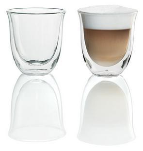 Чашки DeLonghi ЭспрессоАксессуары для кофемашин<br><br><br>Описание: объем 60 мл. Двойные стенки из термо-стекла. Сохранение температуры напитка. Удобно держать. Можно мыть в посудомоечной машине. Боросиликатное стекло. Ручная работа