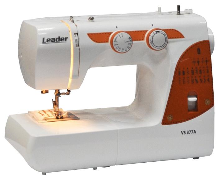 Швейная машина Leader VS 377AШвейные машины<br><br><br>Тип: электромеханическая<br>Тип челнока: качающийся<br>Вышивальный блок: нет<br>Количество швейных операций: 25<br>Выполнение петли: автомат<br>Число петель: 1<br>Максимальная длина стежка: 4.0 мм<br>Максимальная ширина стежка: 5.0 мм<br>Потайная строчка : есть<br>Эластичная строчка : есть