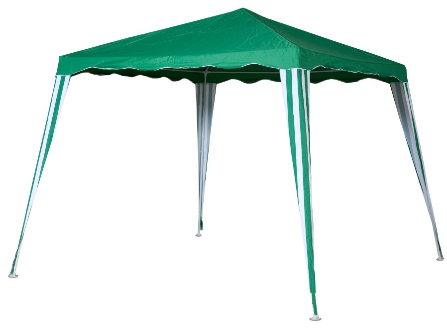 Садовый тент-шатер Green Glade 1082Садовые тенты и шатры<br>Садовый тент шатер Green Glade 1082 - изготовлен из современных материалов высокого качества, прекрасно защищает от палящего солнца и дождя. Материал тента изнутри имеет прорезиненную основу. Шатер прекрасно смотрится и легко и быстро устанавливается. Можно использовать этот шатер как замену дачной беседки, но также без труда его можно брать с собой на выезды на природу.<br><br>Тип: Садовый тент-шатер<br>Покрытие: полиэстер 140 г. с водоотталкивающей пропиткой<br>Каркас: металлическая трубка (19х19х25 мм)<br>Размеры упаковки: 115х13х17 см