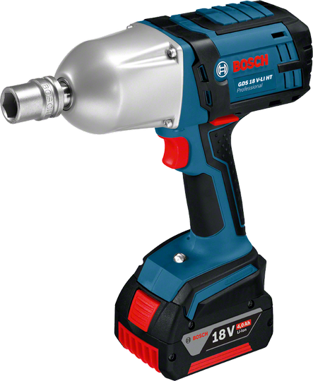 Гайковерт Bosch GDS 18 V-LI HT 4.0Ah x2 L-BOXX [06019B1303]Дрели, шуруповерты, гайковерты<br>- Инновационные аккумуляторы CoolPack обеспечивают оптимальный отвод тепла и тем самым увеличивают срок службы на 100 % &amp;#40;ср. литий-ионные аккумуляторы без CoolPack&amp;#41;<br>- Bosch Electronic Cell Protection &amp;#40;ECP&amp;#41;: система защиты аккумулятора от перегрузки, перегрева и глубокого разряда<br>- Удобный индикатор заряда: показывает уровень заряда аккумулятора в любое время<br><br>Тип: гайковерт<br>Тип инструмента: ударный<br>Тип патрона: квадрат 1/2<br>Количество скоростей работы: 1<br>Питание: от аккумулятора<br>Импульсный режим: есть<br>Возможности: реверс, электронная защита от перегрузок, электронная регулировка частоты вращения<br>Тип аккумулятора: Li-Ion<br>Время зарядки аккумулятора: 0.75 ч<br>Съемный аккумулятор: есть