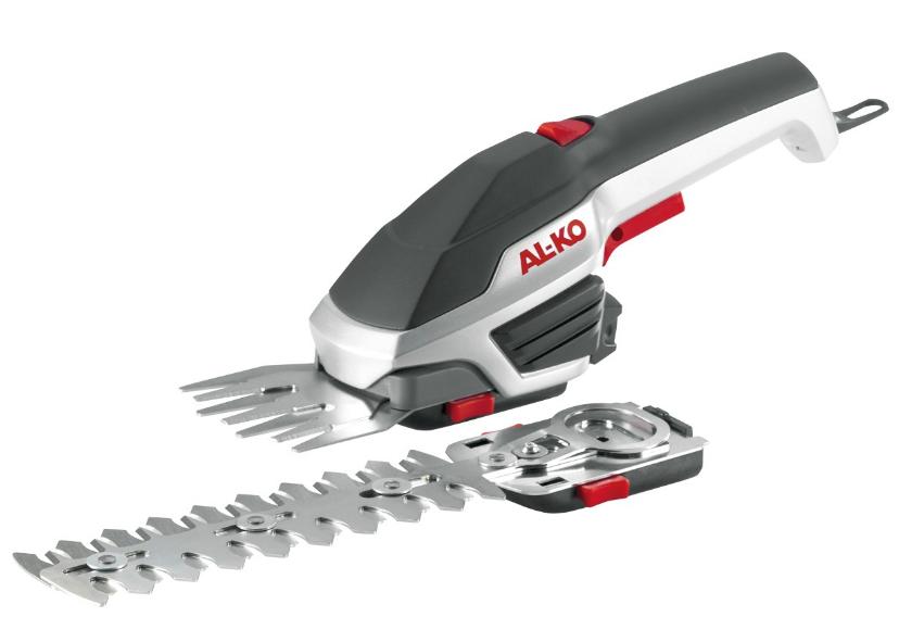 Аккумуляторные ножницы AL-KO GS 3,7 Li MultiCutterКусторезы<br>Аккумуляторные садовые ножницы AL-KO GS 3,7 Li MultiCutter &amp;#40;112773&amp;#41; станут настоящей находкой для любого садовода, ведь они значительно упростят и ускорят процесс ухода за растениями, существенно облегчив выполнение множества задач. AL-KO GS 3,7 Li MultiCutter &amp;#40;112773&amp;#41; работает от аккумуляторной батареи, которой хватит до 45 мин автономной работы, при этом для ее заряда понадобится не более 240 мин. Данный инструмент заменит кусторез с длиной ножа в 160 мм и ножницы для травы шириной в 80 мм с неимоверно острой алмазной заточкой. Помимо этого AL-KO GS 3,7 Li MultiCutter &amp;#40;112773&amp;#41; и...<br><br>Источник питания: аккумулятор<br>Описание: рабочая ширина 160/80мм