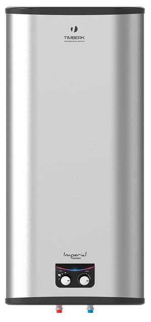 Водонагреватель Timberk SWH FSM3 100 VHВодонагреватели<br>Накопительный водонагреватель Timberk SWH FSM3 100 VH оснащен вместительным внутренним баком на 100 литров воды, выполненным из нержавюещей стали. Для защиты бака от коррозии предусмотрен магниевый анод. Позиция оптимального положения ручки терморегулятора &amp;#40;режим Comfort&amp;#41; соответствует максимально комфортной температуре нагрева воды &amp;#40;&amp;#43;57°С, ±2°С&amp;#41; и наиболее экономичному режиму расхода электроэнергии.<br> <br> <br>- Внешний корпус накопительного водонагревателя Timberk SWH FSM3 100 VH выполнен из фактурного пластика Titan с эффектом нержавеющей стали.<br>- Универсальный...<br><br>Тип водонагревателя: накопительный<br>Способ нагрева: электрический<br>Объем емкости для воды, л.: 100<br>Максимальная температура нагрева воды (°С): +75 °С<br>Номинальная мощность(кВт): 2.5<br>Управление: механическое