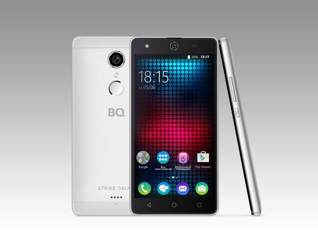 Мобильный телефон BQ BQS-5050 Strike Selfie Rose SilverМобильные телефоны<br>Новая усовершенствованная версия BQ Strike - BQS-5050&amp;nbsp;&amp;nbsp;Strike Selfie.<br><br>Главная особенность новой модели- 13-мегапиксельная фронтальная камера со вспышкой и автофокусом, предназначенная для создания умопомрачительного качества селфи-фотографий, что, несомненно, порадует всех любителей селфи. <br>Кроме этого смартфон работает на базе современной операционной системы Android 6.0. Благодаря работе этой версии ОС смартфон BQS-5050&amp;nbsp;&amp;nbsp;Strike Selfie справляется с мультизадачными приложениями намного быстрее своих конкурентов. <br><br>Устройство оснащено современным 4-х ядерным...<br>