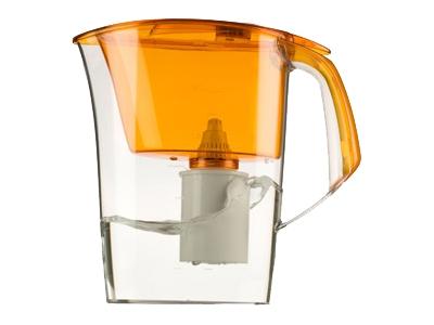 Кувшин Барьер Премия OrangeФильтры и умягчители для воды<br><br><br>Тип: фильтр-кувшин<br>Тип фильтра: кувшин<br>Подключение к водопроводу: нет<br>Фильтрующий модуль в комплекте: есть<br>Ресурс стандартного фильтрующего модуля: 350 л<br>Помпа для повышения давления: нет<br>Максимальная производительность л/мин.: 0,3