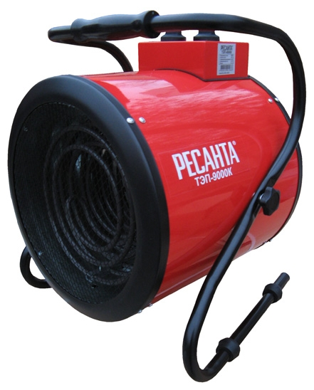 Тепловая пушка Ресанта ТЭП-9000КТепловые пушки и завесы<br><br><br>Тип: тепловая пушка<br>Мощность обогрева, Вт: 9000<br>Тип нагревательного элемента: ТЭН<br>Вентилятор : есть<br>Вентиляция без нагрева: есть<br>Управление: механическое<br>Регулировка температуры: есть<br>Термостат: есть<br>Таймер: нет<br>Защитные функции: отключение при перегреве