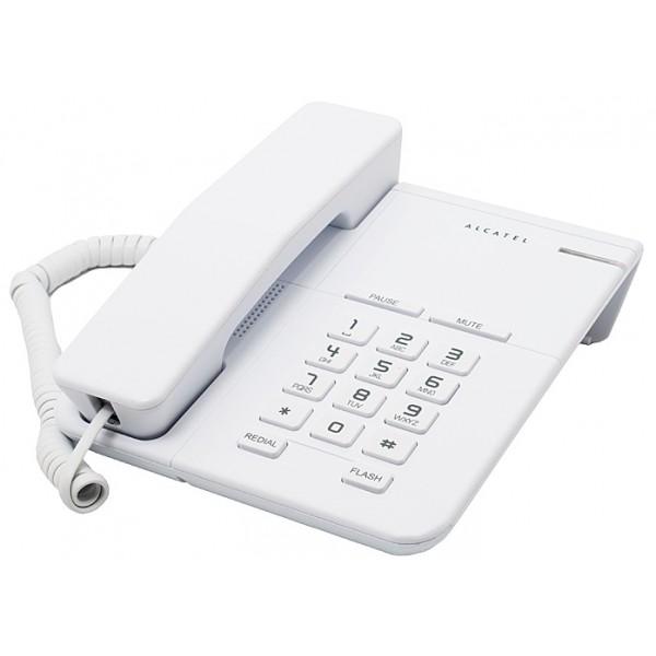 Телефон проводной Alcatel T22 WhiteПроводные телефоны<br>Alcatel T22 White притягивает внимание.<br>Проводной телефон Alcatel T22 White белого цвета притягивает к себе внимание с первого взгляда. Хотя, никто этому уже не удивляется, ведь его дизайн безупречен! Прямые линии, тонкий корпус, тонкий корпус — это же настоящее украшение для вашего офиса и квартиры!<br>Эта модель не только красива, но еще и функциональна. Вы найдете в ней абсолютно все возможности и функции, которые сделают ваше общение легким, продуктивным и очень удобным!<br>Хотите прямо сейчас убедиться в том, что этот аппарат по-настоящему надежен? Просмотрите,...<br><br>Тип: проводной телефон<br>Повторный набор номера: есть<br>Тональный набор: есть<br>Кнопка выключения микрофона: есть