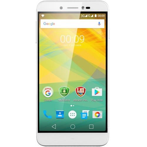 Мобильный телефон Prestigio Grace Z5 5530 SilverМобильные телефоны<br><br><br>Тип: Смартфон<br>Стандарт: GSM 900/1800/1900, 3G<br>Тип трубки: классический<br>Поддержка двух SIM-карт: есть<br>Операционная система: Android 6.0<br>Встроенная память: 8 Гб<br>Фотокамера: 13 млн пикс., светодиодная вспышка (фронтальная и тыльная)<br>Форматы проигрывателя: MP3<br>Спутниковая навигация: GPS<br>Процессор: 1300 МГц