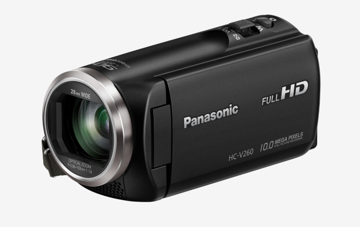 Видеокамера Panasonic HC-V260EE-KВидеокамеры<br>Panasonic HC-V260EE — интеллектуальный 90-кратный зум позволяет четко сфокусировать камеру на удаленных объектах. А функция выравнивания изображения и 5-осевая система определения дрожания рук сохраняют естественную красоту изображения. Используйте режим широкоугольной съемки для создания групповых и пейзажных снимков отличного качества.<br><br>Интеллектуальный 90-кратный зум/оптический 50-кратный зум<br>Камера оснащена интеллектуальным 90-кратным зумом и оптическим 50-кратным зумом. Эта модель позволяет без труда снимать объекты, которые находятся так далеко,...<br><br>Тип: Flash<br>Поддержка видео высокого разрешения (Full HD): Есть<br>Максимальное разрешение видеосъемки: 1920x1080<br>Видоискатель: Есть<br>Фоторежим: Есть<br>Число мегапикселов при фотосъемке Мпикс: 2.2<br>Широкоформатный режим фото: Есть<br>Тип матрицы: MOS<br>Количество матриц: 1<br>Разрешение матриц Мпикс: 2.51