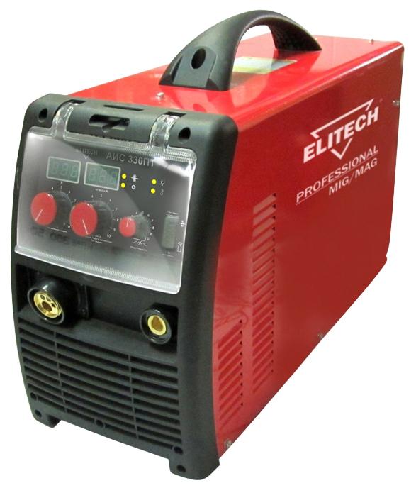 Сварочный аппарат Elitech АИС 330ПТСварочные аппараты<br>Сварочный инвертор MIG/MAG АИС 330ПТ предназначен для дуговой полуавтоматической сварки плавящейся электродной проволокой в среде защитного газа - инертного &amp;#40;аргон&amp;#41; или активного &amp;#40;углекислого газа&amp;#41; или их смеси &amp;#40;80%Ar &amp;#43; 20%СО2&amp;#41;. <br><br>Инверторный полуавтомат Elitech АИС 330ПТ создан по самой современной технологии IGBT c использованием мощных биполярных транзисторов с изолированным затвором. Плавная регулировка силы тока и напряжения на дуге дают возможность устанавливать наиболее подходящие значения для каждого конкретного случая....<br><br>Тип: сварочный инвертор<br>Напряжение на входе: 342-418 В<br>Напряжение холостого хода: 53 В<br>Тип выходного тока: постоянный<br>Мощность, кВт: 11.0<br>Продолжительность включения при максимальном токе: 0 %<br>Класс изоляции: H<br>Степень защиты: IP23<br>Температурный диапазон работы: от -10 до 40 °C<br>Описание: регулировка индуктивности