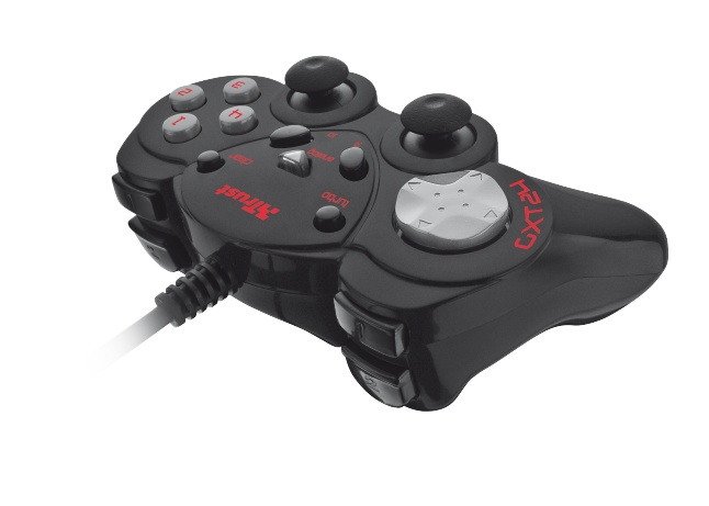 Геймпад Trust GXT 24 Compact Gamepad (17416)Рули, джойстики, геймпады<br><br><br>Тип: проводной геймпад<br>Количество мини-джойстиков: 2<br>Количество кнопок: 12