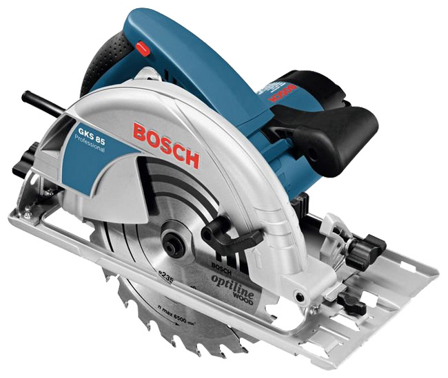 Дисковая пила Bosch GKS 85 [060157A000]Пилы<br><br><br>Тип: дисковая<br>Конструкция: ручная<br>Мощность, Вт: 2200 Вт<br>Функции и возможности: блокировка шпинделя, подключение пылесоса