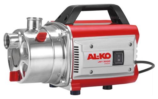 Насос AL-KO Jet 3000 Inox ClassicНасосы<br>Мощность, надежность, экономия электроэнергии. Простота ввода в эксплуатацию. Мобильный и компактный, крышка насоса из нержавеющей стали.<br><br>Глубина погружения: 8 м<br>Максимальный напор: 35 м<br>Пропускная способность: 3.1 куб. м/час<br>Напряжение сети: 220/230 В<br>Потребляемая мощность: 650 Вт<br>Качество воды: чистая<br>Установка насоса: горизонтальная