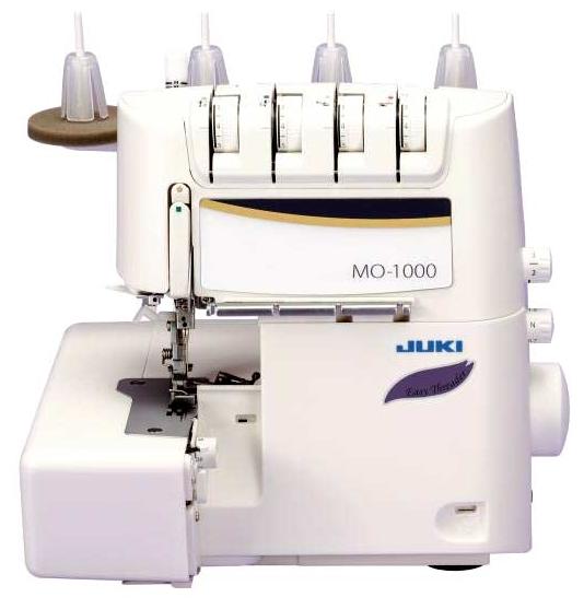 Оверлок Juki MO-1000Оверлоки<br>Оверлок Juki MO 1000 - 4-ех ниточный оверлок, который обладает всем необходимым для того, чтобы производить обработку края изделия. Благодаря регулировке прижима ткани при помощи ткани вы сможете обрабатывать ткани, у которых имеются самые различные характеристики. Данная модель отличается аналогичных наличием функции пневмозаправки – это то, что позволит вам сделать заправку оверлока невероятно простым делом. Изучение схемы заправки отныне – дело прошлого. Вам просто необходимо нажать одну кнопку, и дальше машина все сделает за вас.<br><br>Оверлок ...<br><br>Тип: оверлок<br>Число нитей: 2, 3, 4<br>Виды швов: ролевой шов, flatlock<br>Максимальная длина стежка: 4.0 мм<br>Максимальная ширина стежка: 5.0 мм<br>Максимальная высота подъема лапки: 8 мм