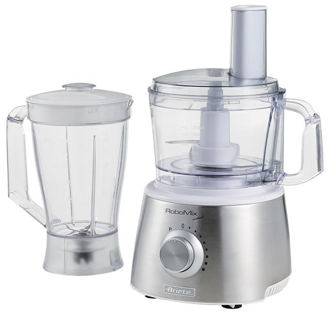 Кухонный комбайн Ariete 1779/00 Robomix MetalКухонные комбайны<br><br><br>Тип: Кухонный комбайн<br>Мощность, Вт: 1500<br>Емкость чаши, л: 2,1<br>Блендер, л: 1.75