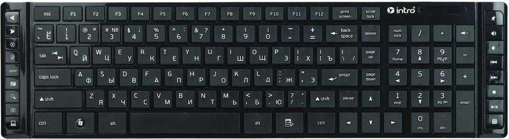 Клавиатура Intro KW201SM Black USB
