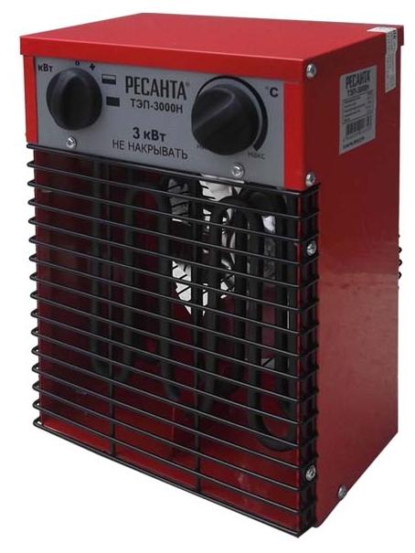 Тепловая пушка Ресанта ТЭП-3000НТепловые пушки и завесы<br><br><br>Тип: тепловая пушка<br>Мощность обогрева, Вт: 3000<br>Вентилятор : есть<br>Вентиляция без нагрева: есть<br>Управление: механическое<br>Регулировка температуры: есть<br>Термостат: есть<br>Таймер: нет<br>Напольная установка: есть<br>Напряжение: 220/230 В