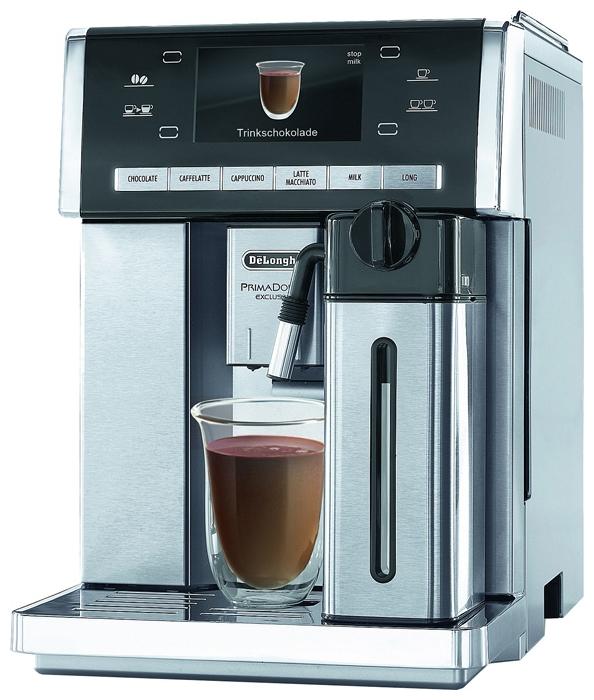 Кофемашина Delonghi ESAM 6900.MКофеварки и кофемашины<br>Delonghi esam 6900: не отказывайтесь от удовольствия!<br>Всем известно о том, что всего лишь одна чашечка настоящего кофе способна подарить мощнейший заряд энергии и хорошее настроение на весь день. Но не стоит забывать, что кофе — это еще и просто очень вкусный напиток, который так приятно выпить за завтраком или после обеда в середине рабочего дня. Чтобы никогда не отказывать себе в таком удовольствие, поставьте у себя дома или в рабочем офисе (а можно и там, и там) кофемашину Delonghi esam primadonna exclusive.<br>Эта кофемашина не только знает огромное количество самых...<br><br>Тип используемого кофе: Зерновой\Молотый<br>Мощность, Вт: 1350<br>Объем, л: 1.4<br>Давление помпы, бар  : 15<br>Встроенная кофемолка: Есть<br>Емкость контейнера для зерен, г  : 250<br>Одновременное приготовление двух чашек  : Есть<br>Подогрев чашек  : Есть<br>Контейнер для отходов  : Есть<br>Съемный лоток для сбора капель  : Есть