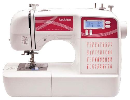Швейная машина Brother JS-40EШвейные машины<br>Комфортное шитье – у Вас дома! Машина BROTHER JS-40E позволяет поднять ваши швейные навыки на новый уровень мастерства! Широчайший выбор строчек, автоматическое выметывание петель и автоматическая заправка нити в иглу превращают рутинные операции в удовольствие. Все данные по длине стежка, ширине строчки и типу прижимной лапки отображаются на жидкокристаллическом дисплее. Машина позволяет обрабатывать изделия из тканей различной толщины &amp;#40;от тончайшего шелка до джинсовой ткани&amp;#41;, предоставляя широкие возможности для творчества.<br>