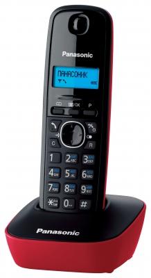 Радиотелефон Panasonic KX-TG1611RURРадиотелефон Dect<br><br><br>Тип: Радиотелефон<br>Количество трубок: 1<br>Рабочая частота: 1880-1900 МГц<br>Стандарт: DECT/GAP<br>Радиус действия в помещении / на открытой местност: 50/300 м<br>Возможность набора на базе: Нет<br>Проводная трубка на базе : Нет<br>Время работы трубки (режим разг. / режим ожид.): 15/170<br>Дисплей: монохромный дисплей<br>Возможность настенного крепления: Есть