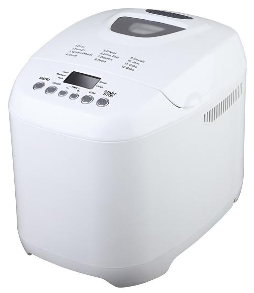 Хлебопечка Midea BM-210BC-WХлебопечки<br><br><br>Тип: Хлебопечь<br>Максимальный вес выпечки, г: 1000<br>Мощность, Вт: 580<br>Регулировка веса выпечки: Есть<br>Выбор цвета корочки: Есть<br>Таймер: Есть<br>Установка таймера: до 13 ч<br>Поддержание температуры: Есть<br>Время поддержание температуры: до 1 ч<br>Запас памяти при сбое электропитания, мин: 10
