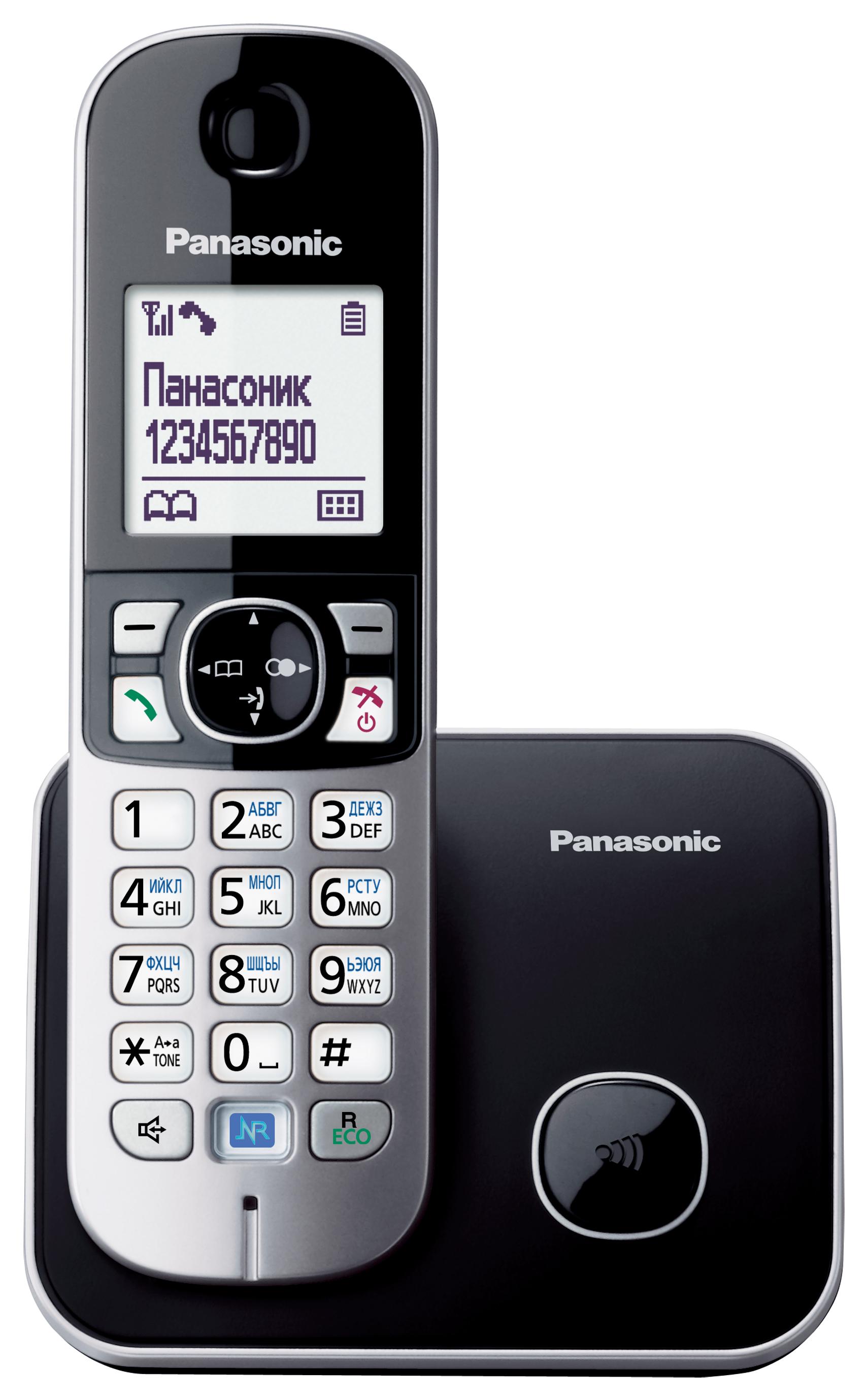 Радиотелефон Panasonic KX-TG6811RUBРадиотелефон Dect<br>Panasonic kx tg6811rub: исключительный комфорт!<br>Удобное управление, великолепная эргономика, стильный дизайн и высокая надежность — это еще не все, что может предложить вам радиотелефон Panasonic kx tg6811rub.<br>Помимо вышеперечисленных бесспорных достоинств этот аппарат отличается отличной функциональностью. Внутренняя и конференц-связь, ускоренный набор, определитель номера и Caller ID, телефонная книга на 120 номеров, ночной режим, спикерфон — приобретая такой телефон, вы приобретаете возможность всегда общаться с исключительным комфортом!<br>Мы абсолютно уверены,...<br><br>Тип: Радиотелефон<br>Количество трубок: 1<br>Рабочая частота: 1880-1900 МГц<br>Стандарт: DECT/GAP<br>Возможность набора на базе: Нет<br>Проводная трубка на базе : Нет<br>Время работы трубки (режим разг. / режим ожид.): 15 / 170 ч<br>Дисплей: на трубке, 2 строки<br>Подсветка кнопок на трубке: Есть<br>Журнал номеров: 50