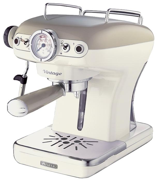 Кофеварка Ariete 1389 Vintage BeigeКофеварки и кофемашины<br>Кофеварка Ariete 1389 Vintage станет отличным подарком для людей с безупречным вкусом. Стиль винтаж, привлекательный внешний вид, отличные рабочие характеристики делают ее отличным инструментом для создания кофейных шедевров. Хотите не просто пить кофе, а наслаждаться каждым глотком? Эта кофеварка превратит ваш дом в уютную кофейню, позволит смаковать напитки, которые будут ничем не хуже тех, что подают в ресторане. Приготовление порции кофе станет простым и приятным.<br><br>Купить кофеварку Ariete 1389 – пить не только эспрессо, но и капучино. Она имеет специальное...<br><br>Тип : капельная кофеварка<br>Тип используемого кофе: Молотый\Чалды<br>Мощность, Вт: 900<br>Объем, л: 0.9<br>Давление помпы, бар  : 15<br>Материал корпуса  : Пластик<br>Одновременное приготовление двух чашек  : Есть<br>Съемный лоток для сбора капель  : Есть