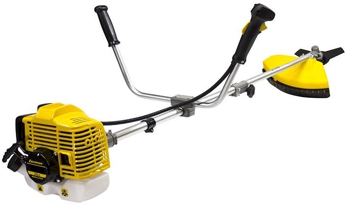 Триммер Champion T346Газонокосилки и триммеры<br><br><br>Тип: триммер<br>Тип двигателя: бензиновый, двухтактный<br>Обороты двигателя: 10500<br>Ширина скашивания, см: 25<br>Уровень шума: 102 дБ<br>Дополнительно: ширина скашивания ножом - 25.4 см<br>Мощность двигателя (Вт): 900<br>Мощность двигателя (л.с.): 1.23