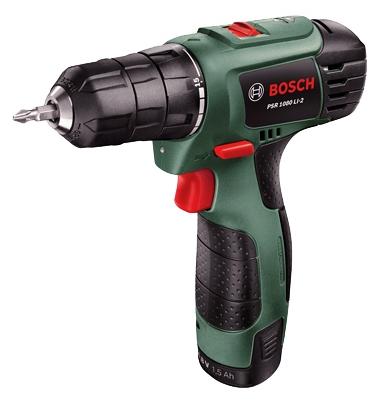 Дрель-шуруповерт Bosch PSR 1080 LI-2 1.5Ah x1 Case [06039A2100]Дрели, шуруповерты, гайковерты<br><br>