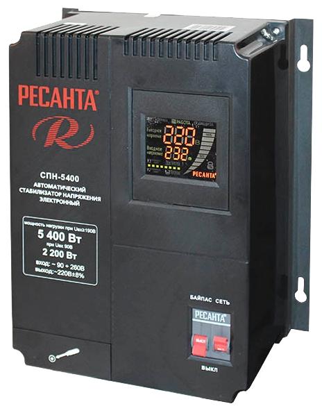 Стабилизатор напряжения Ресанта СПН 5400Стабилизаторы напряжения<br><br><br>Тип: стабилизатор напряжения