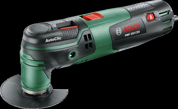 Многофункциональная шлифмашина Bosch PMF250 Set [0603102121]Шлифовальные и заточные машины<br>- Универсальный помощник благодаря широкому ассортименту инновационных принадлежностей Bosch Starlock<br>- Легкая замена принадлежностей без инструмента в течение всего трех секунд благодаря инновационной системе AutoClic<br>- Шлифование без пыли гарантируется подсоединяемой к универсальному пылесосу системе пылеудаления<br><br>Другие преимущества изделия<br>- Высокоточное и плавное врезание благодаря скругленным режущим кромкам погружных пильных полотен с Curved-Tec<br>- Соблюдение точной глубины реза посредством 4-ступенчатого ограничителя глубины<br>- Неизменно высокая...<br><br>Описание: угол колебаний слева/справа: 1,4°; возможность подключения универсального пылесоса - для шлифования без пыли