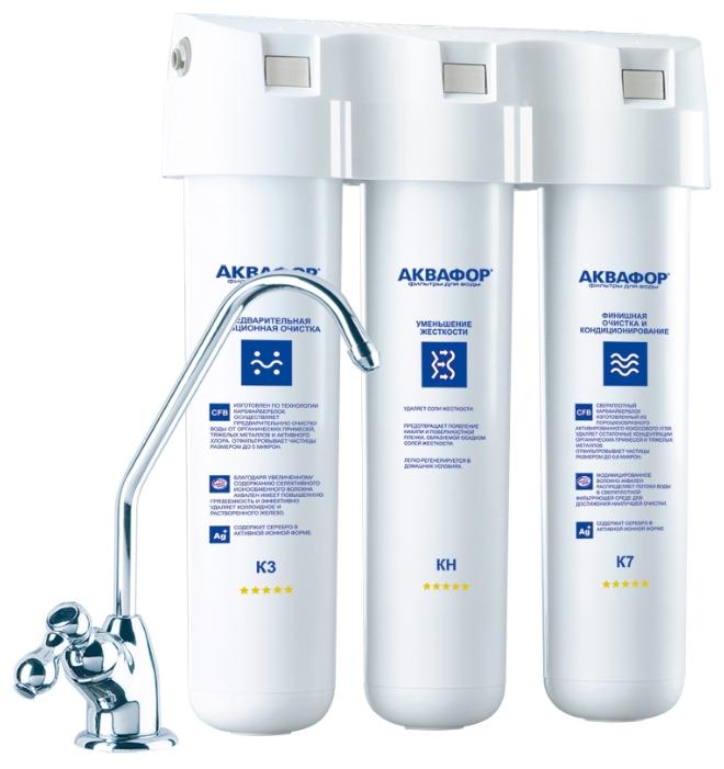 Система под мойкой Аквафор Кристалл НФильтры и умягчители для воды<br><br><br>Тип: система под мойкой<br>Тип фильтра: система под мойкой<br>Подключение к водопроводу: есть<br>Число ступеней очистки: 3<br>Фильтрующий модуль в комплекте: есть<br>Ресурс стандартного фильтрующего модуля: 6000 л<br>Помпа для повышения давления: нет<br>Максимальная производительность л/мин.: 2