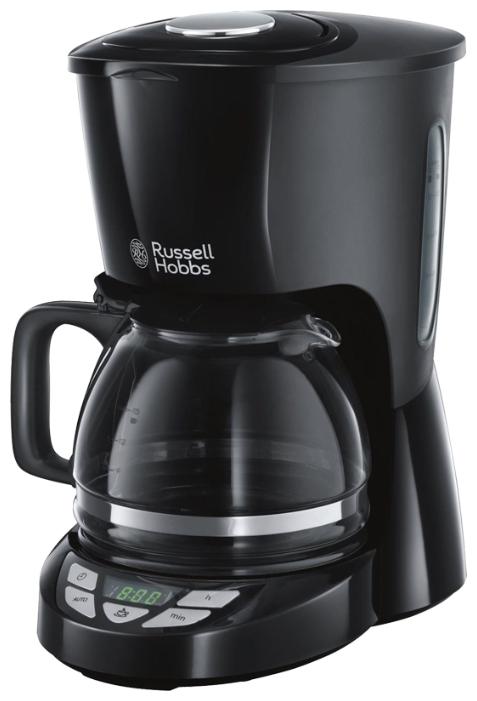 Кофеварка Russell Hobbs 22620-56Кофеварки и кофемашины<br>Новая кофеварка Textures Plus - это сочетание премиального качества приготовления кофе и изумительного дизайна. Эта модель идеальна для ценителей кофе, которым важен вкус и качество напитка, а также вкус и стиль в дизайне домашней техники.<br><br>Кофеварка обладает уникальной&amp;nbsp;&amp;nbsp;технологией от Russell Hobbs для более эффективной экстракции кофе: инновационная конструкция системы подачи воды в отсек с кофе гарантирует распределение горячей воды равномерно на весь объем молотого кофе, таким образом достигается рациональный расход сухого кофе,&amp;nbsp;&amp;nbsp;а напиток...<br><br>Тип : капельная кофеварка<br>Тип используемого кофе: Молотый<br>Объем, л: 1.25<br>Фильтр  : Постоянный /Одноразовый<br>Материал корпуса  : Пластик<br>Плита автоподогрева: Есть<br>Съемный лоток для сбора капель  : Нет