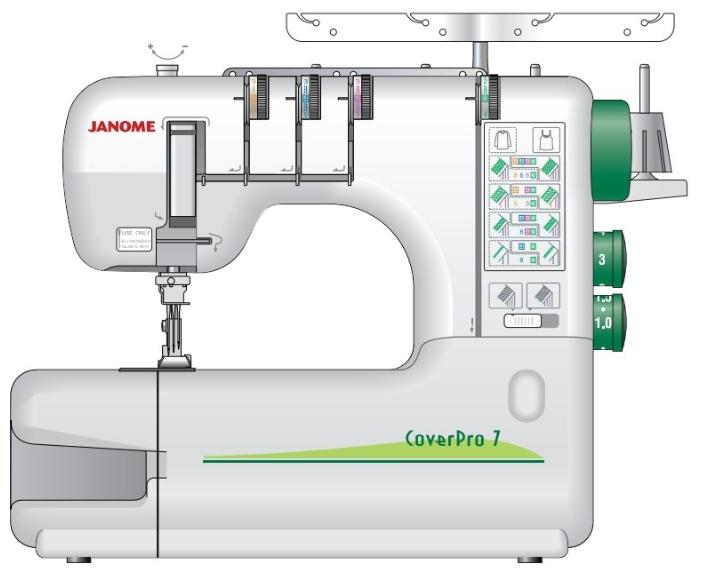 Распошивальная машина Janome CoverPro 7 (CPRO-7)Оверлоки<br><br>