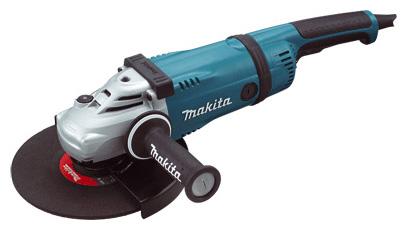 Угловая шлифмашина Makita GA9040SF01Шлифовальные и заточные машины<br>- Контроль работы. Задняя рукоятка с мягкой накладкой снижает уровень вибрации для большего комфорта и контроля работы.<br>- Быстрый доступ к щеткам. Для быстрой замены угольных щеток технический узел расположен снаружи корпуса.<br>- Низкий уровень вибрации. Дополнительная рукоятка снижает уровень вибрации и может устанавливаться в трех позициях.<br>- Удобство работы. Корпус редуктора может можно поворачивать на 90° - для выбора удобной для работы позиции.<br>- Расцепляющая муфта.<br>- Защита двигателя от пыли.<br>- Усиленные конические шестерни редуктора.<br>- Надежный...<br>