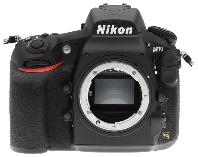 Цифровой зеркальный фотоаппарат Nikon D810 BodyЦифровые зеркальные фотоаппараты<br><br><br>Тип: Цифровая зеркальная фотокамера<br>Стабилизатор изображения: нет<br>Звук в видеоклипе: есть<br>Вспышка: есть<br>Кроп фактор: 1<br>Тип матрицы: CMOS<br>Размер матрицы: 35.9 x 24 мм<br>Число эффективных пикселов, Mp: 37.09 млн<br>Чувствительность: 64 - 3200 ISO, Auto ISO, ISO6400, ISO12800, ISO25600, ISO51200<br>Функции очистки матрицы: есть