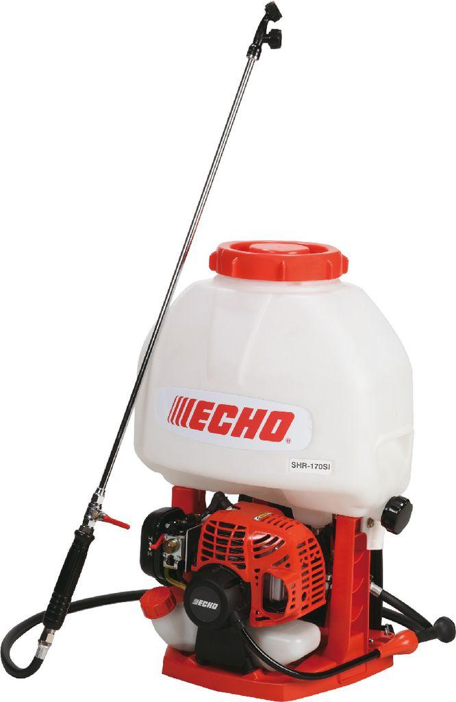 Опрыскиватель ECHO SHR-170SIСадовые опрыскиватели<br><br><br>Тип: опрыскиватель<br>Мощность двигателя, Вт: 580<br>Тип двигателя: бензиновый<br>Макс. производительность по воде: 84 л/ч<br>Объем бака: 17 л