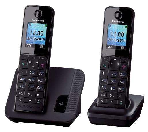 Радиотелефон Panasonic KX-TGH212RUBРадиотелефон Dect<br><br><br>Тип: Радиотелефон<br>Количество трубок: 2<br>Рабочая частота: 1880-1900 МГц<br>Стандарт: DECT<br>Радиус действия в помещении / на открытой местност: 50/300 м<br>Время работы трубки (режим разг. / режим ожид.): 14 / 250 ч<br>Полифонические мелодии: 40<br>Дисплей: на трубке (цветной)<br>Подсветка кнопок на трубке: Есть<br>Возможность настенного крепления: Есть