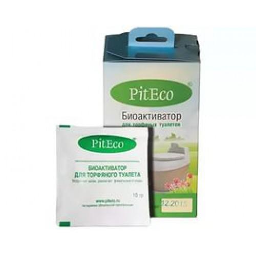 Биоактиватор Piteco 160 гр (6шт)Расходные материалы для биотуалетов<br>Смесь специально выращенных микроорганизмов и энзимов.<br>Применяется в торфяных туалетах для ускорения процесса компостирования фекальных отходов. Применяется только в комплексе с торфяной композицией. <br>Поддается биологическому разложению более чем на 98%. <br>16 пакетиков рассчитаны на 4 месяца применения.<br><br>Тип: биоактиватор