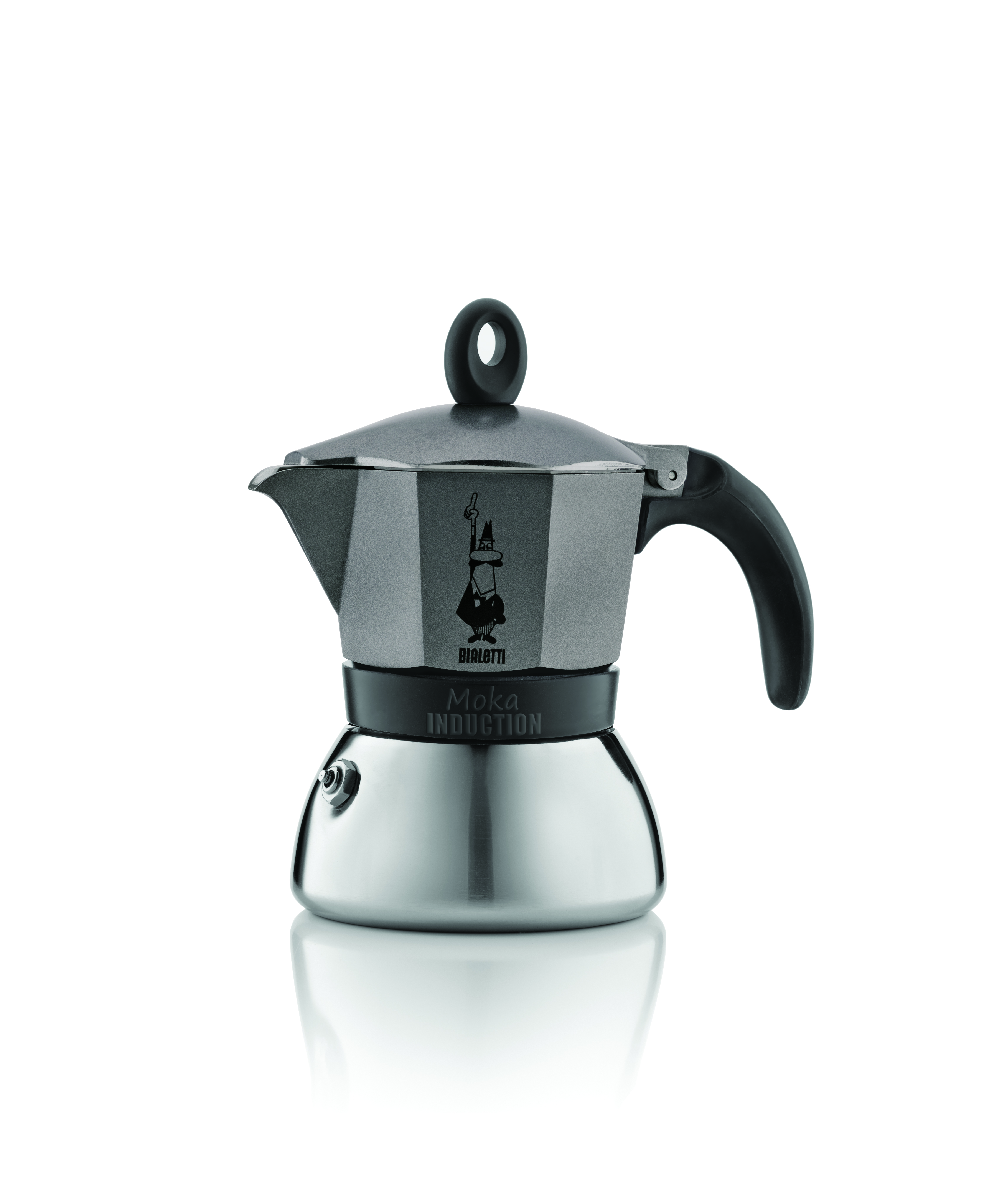 Кофеварка Bialetti Moka Induzione antracite 6 п. 4823Кофеварки и кофемашины<br><br><br>Тип : гейзерная кофеварка<br>Тип используемого кофе: Молотый<br>Объем, л: 0,24<br>Материал корпуса  : Металл