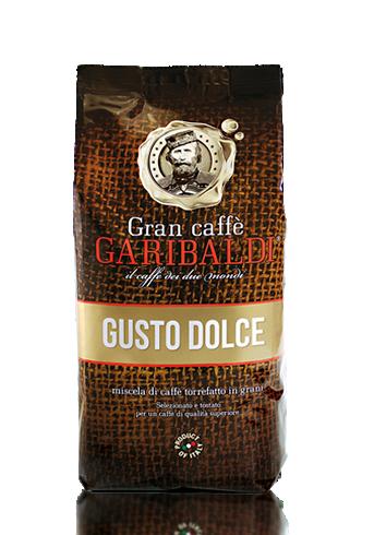 Кофе в зернах Garibaldi Gusto Dolce 1 кг.Кофе, какао<br>Неповторимая смесь Арабики и Робусты, прекрасно раскрывает весь букет настоящего итальянского кофе. Хорошо проваривается в профессиональных кофе-машинах, достойный хороший кофе для ресторанов. Аромат пленит с первой нотки, вкус будоражит с первого глотка, плотная пена сохраняет аромат и вкус надолго.<br><br>Тип: кофе в зернах<br>Состав: 60% Арабика/ 40% Робуста