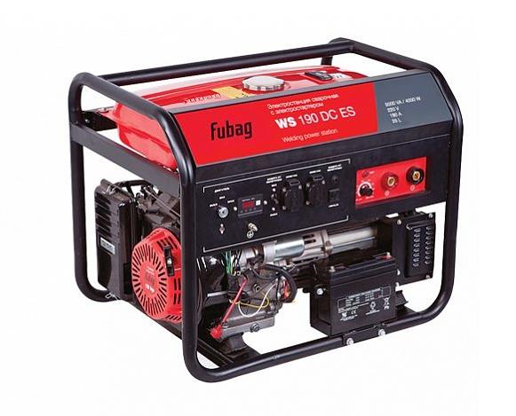 Электрогенератор FUBAG WS 190 DC ESЭлектрогенераторы<br>- Длительная работа без дозаправки <br>Универсальная сварочная электростанция постоянного тока, оснащенная профессиональным OHV двигателем FUBAG, с электростартером. Увеличенный топливный бак 25л, рассчитан на 10,5 часов непрерывной работы. <br><br>- Надежность и отличные эксплуатационные характеристики <br>Запуск двигателя осуществляется как электростартером, источником энергии для которого служит бортовой аккумулятор, так и вручную. Станция оснащена встроенной защитой от перегрузки и системой аварийного отключения двигателя при низком уровне масла в ...<br>