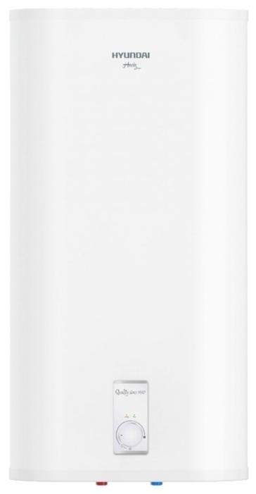 Водонагреватель Hyundai H-DRS-50V-UI310Водонагреватели<br>Накопительный водонагреватель Hyundai &amp;#40;Хендай&amp;#41; H-DRS-50V-UI310 — это оборудование, которое работает от сети электропитания и будет очень актуально в жилых сооружениях, где не предусмотрено центральное горячее водоснабжение или в ситуациях, когда наблюдается частое отключение воды в городской квартире или индивидуальном доме. Прибор имеет лаконичное дизайнерское решение и прост в использовании.<br><br>Особенности серии накопительных водонагревателей от популярного производителя Hyundai:<br>- Стильный облик, настенная установка.<br>- Плоская конструкция бака....<br><br>Тип водонагревателя: накопительный<br>Способ нагрева: электрический<br>Объем емкости для воды, л.: 50<br>Максимальная температура нагрева воды (°С): +75<br>Номинальная мощность(кВт): 1.5