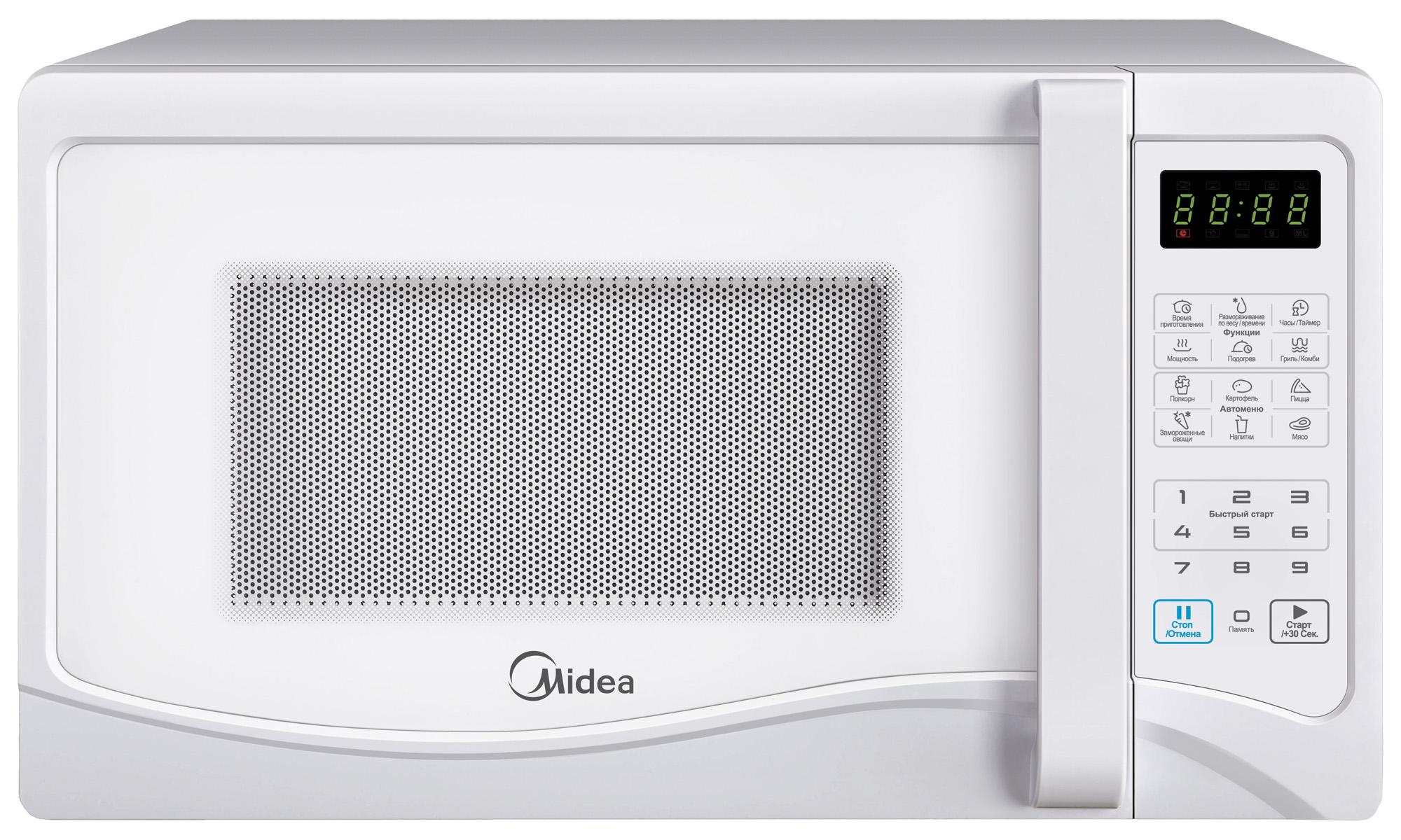Микроволновая печь Midea EG 823 AEEМикроволновые печи<br><br><br>Объём, литров: 23<br>Тип: Микроволновая печь<br>Тип управления: Электронное<br>Дисплей: Есть<br>Переключатели: Сенсорные
