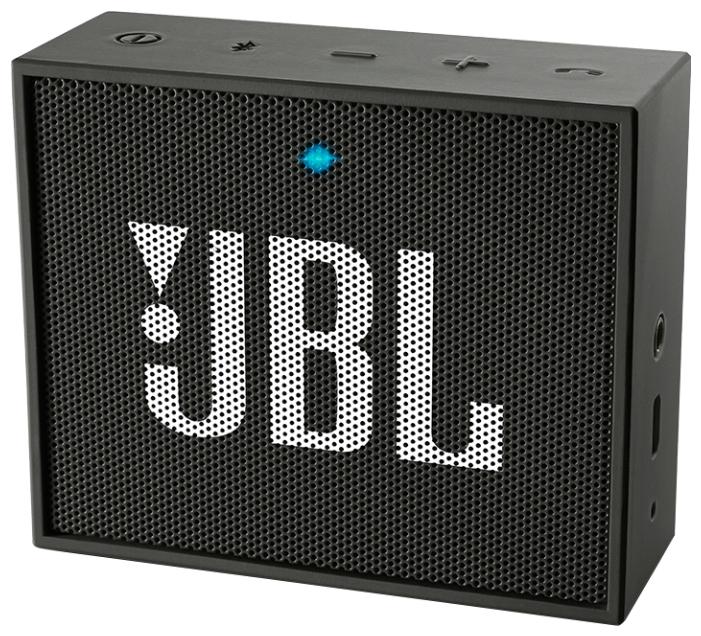 Акустическая система JBL Go BlackАкустические системы<br><br><br>Тип: Беспроводные колонки<br>Состав комплекта: портативное аудио<br>Количество полос: 1<br>Мощность, Вт: 3 Вт<br>Диапазон воспроизводимых частот: 180 - 20000 Гц<br>Интерфейсы: линейный (разъем mini jack), Bluetooth