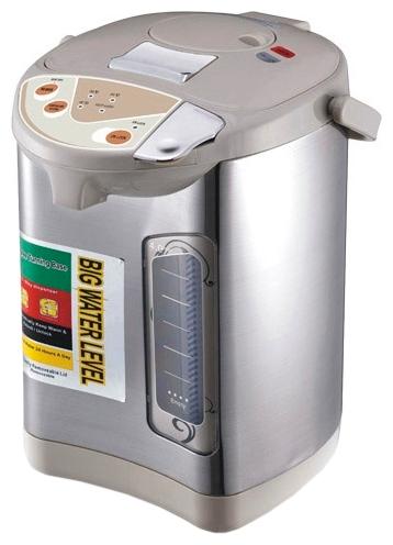 Термопот VES 2007Чайники и термопоты<br><br><br>Тип   : Термопот<br>Объем, л  : 4<br>Мощность, Вт  : 900<br>Тип нагревательного элемента: Закрытая спираль<br>Материал корпуса  : металл<br>Материал колбы  : Металл<br>Терморегулятор  : Есть<br>Тип терморегулятора  : Ступенчатый<br>Количество температурных режимов  : 3<br>Мощность в режиме поддержания температуры, Вт  : 40