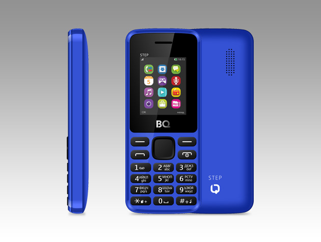 Мобильный телефон BQ BQM-1830 Step Dark BlueМобильные телефоны<br><br><br>Тип: Мобильный телефон<br>Поддержка двух SIM-карт: есть<br>Встроенная память: 32 MB