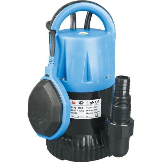 Насос Калибр НПЦ-500/5ПНасосы<br>поплавковый выключатель - автоматически отключает насос при падении уровня воды ниже установленного, и включает его при достижении заданного;<br>компактность, простота в эксплуатации, возможность переноса;<br><br>-&amp;nbsp;&amp;nbsp;для водозабора из резервуаров или рек, откачивания воды из плавательных бассейнов, колодцев, погребов<br>-&amp;nbsp;&amp;nbsp;в системах полива и орошения, а также для понижения грунтовых вод<br><br>Глубина погружения: 8 м<br>Максимальный напор: 9 м<br>Пропускная способность: 12 куб. м/час<br>Потребляемая мощность: 500 Вт<br>Размер фильтруемых частиц: 5 мм