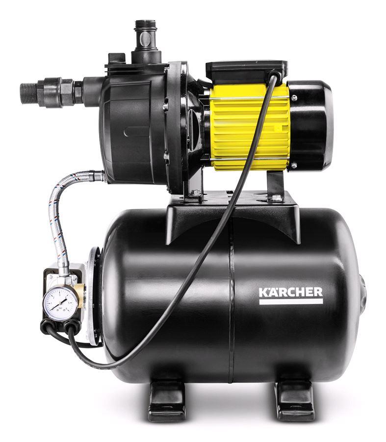 Насос Karcher BP 5 HomeНасосы<br>Описание Станция домового водоснабжения с гидробаком Karcher BP 5 Home <br><br>Новинка которая поступит в продажу только в 2017 году. По-настоящему мощный качественный и многофункциональный насос. <br>Рассчитан обеспечение водой всего дома, будь то полив сада, стирка или душ. <br><br>Особенности и преимущества: <br>- Встроенная термозащита. Защита от перегрева: Насос останавливается автоматически при достижении определенной температуры и включается снова после охлаждения <br>- Фланец и вал из нержавеющей стали. Надежность и прочность для продолжительного срока службы <br>- ...<br><br>Потребляемая мощность: 1300 Вт